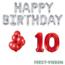 Feest-vieren 10 jaar Verjaardag Versiering Ballon Pakket rood & zilver
