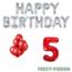 Feest-vieren 5 jaar Verjaardag Versiering Ballon Pakket rood & zilver