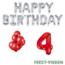 Feest-vieren 4 jaar Verjaardag Versiering Ballon Pakket rood & zilver