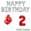Feest-vieren 2 jaar Verjaardag Versiering Ballon Pakket rood & zilver