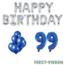 Feest-vieren 99 jaar Verjaardag Versiering Ballon Pakket Blauw & zilver