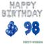 Feest-vieren 98 jaar Verjaardag Versiering Ballon Pakket Blauw & zilver