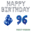 Feest-vieren 96 jaar Verjaardag Versiering Ballon Pakket Blauw & zilver