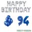 Feest-vieren 94 jaar Verjaardag Versiering Ballon Pakket Blauw & zilver