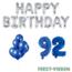 Feest-vieren 92 jaar Verjaardag Versiering Ballon Pakket Blauw & zilver
