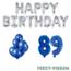 Feest-vieren 89 jaar Verjaardag Versiering Ballon Pakket Blauw & zilver