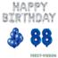 Feest-vieren 88 jaar Verjaardag Versiering Ballon Pakket Blauw & zilver