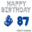 Feest-vieren 87 jaar Verjaardag Versiering Ballon Pakket Blauw & zilver