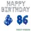 Feest-vieren 86 jaar Verjaardag Versiering Ballon Pakket Blauw & zilver