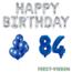 Feest-vieren 84 jaar Verjaardag Versiering Ballon Pakket Blauw & zilver