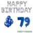 Feest-vieren 79 jaar Verjaardag Versiering Ballon Pakket Blauw & zilver