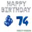 Feest-vieren 74 jaar Verjaardag Versiering Ballon Pakket Blauw & zilver