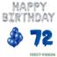 Feest-vieren 72 jaar Verjaardag Versiering Ballon Pakket Blauw & zilver