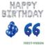 Feest-vieren 66 jaar Verjaardag Versiering Ballon Pakket Blauw & zilver