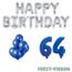 Feest-vieren 64 jaar Verjaardag Versiering Ballon Pakket Blauw & zilver