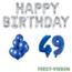 Feest-vieren 49 jaar Verjaardag Versiering Ballon Pakket Blauw & zilver