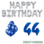 Feest-vieren 44 jaar Verjaardag Versiering Ballon Pakket Blauw & zilver