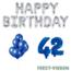 Feest-vieren 42 jaar Verjaardag Versiering Ballon Pakket Blauw & zilver