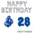 Feest-vieren 28 jaar Verjaardag Versiering Ballon Pakket Blauw & zilver