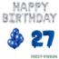 Feest-vieren 27 jaar Verjaardag Versiering Ballon Pakket Blauw & zilver