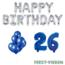 Feest-vieren 26 jaar Verjaardag Versiering Ballon Pakket Blauw & zilver
