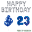 Feest-vieren 23 jaar Verjaardag Versiering Ballon Pakket Blauw & zilver