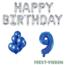 Feest-vieren 9 jaar Verjaardag Versiering Ballon Pakket Blauw & zilver
