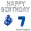 Feest-vieren 7 jaar Verjaardag Versiering Ballon Pakket Blauw & zilver