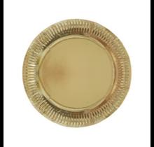 Borden metallic goud papier 23cm 8 stuks