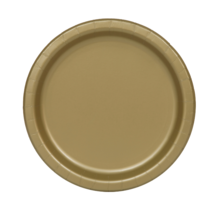 Borden goud papier 23cm 16 stuks