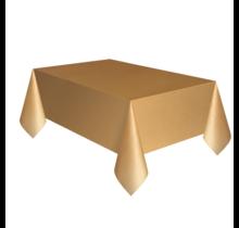 Tafelkleed goud plastic 137 x 274 cm