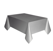 Tafelkleed zilver plastic 137 x 274 cm