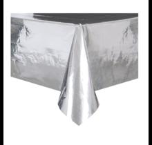 Tafelkleed metallic zilver folie 274 x 137cm