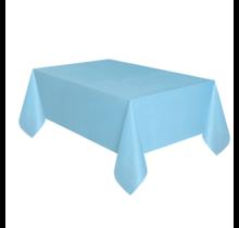 Tafelkleed licht blauw plastic 137 x 274 cm