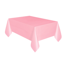 Tafelkleed licht roze plastic 137 x 274 cm
