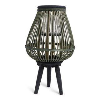 Bamboo Lantaarn Zwart/Groen