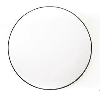 Ronde Metalen Spiegel - Zwart Ø 80cm