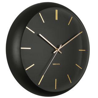 Wandklok Globe Design Armando Breeveld zwart