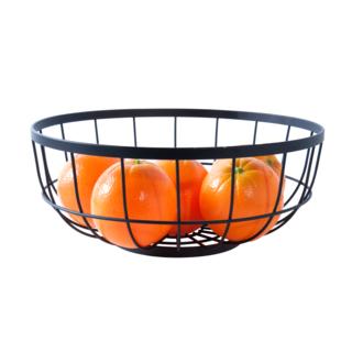 Fruitmand Open Grid Metal - Zwart