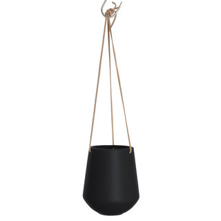 Hangende bloempot Skittle medium - Black