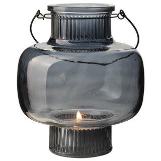 Glazen lantaarn ø17x20cm Blauw