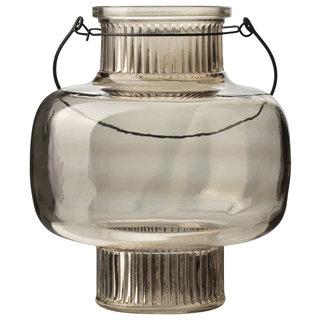 Glazen lantaarn ø17x20cm Bruin