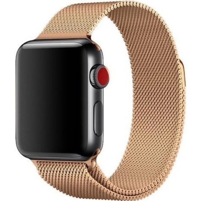 Marque 123watches Apple watch milanese band - or rose