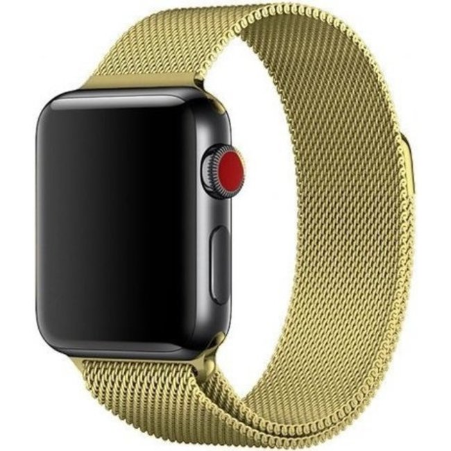 Marque 123watches Apple watch milanese band - or