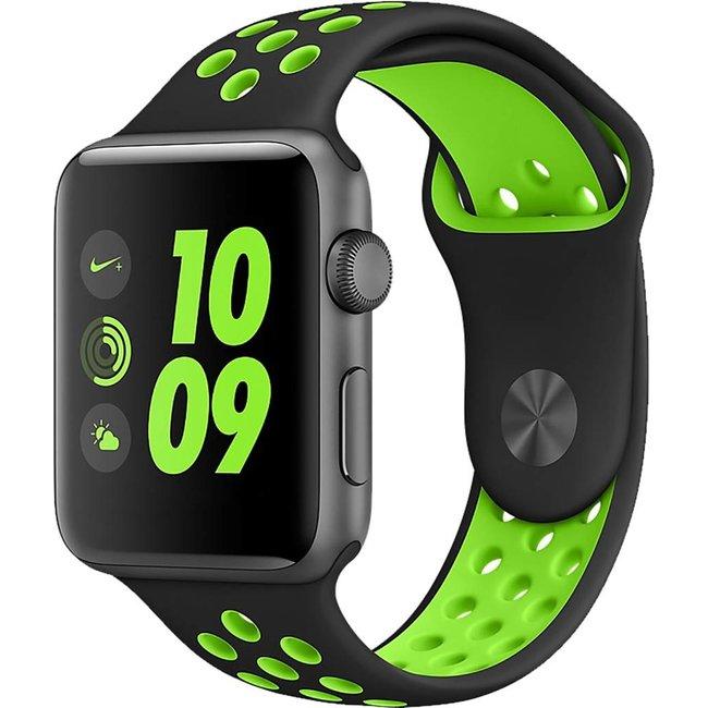 Marque 123watches Apple Watch double sport sangle - vert noir