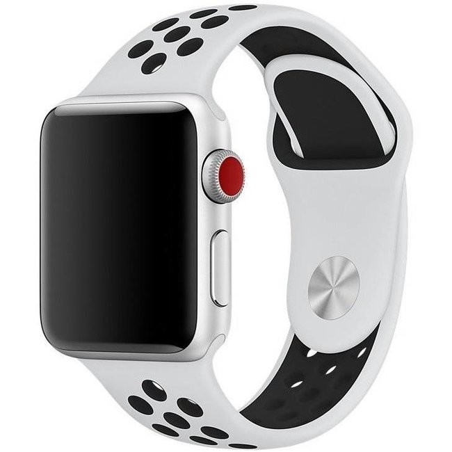 Apple Watch double sport sangle - blanc noir