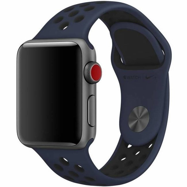 Marque 123watches Apple Watch double sport sangle - nuit bleu noir