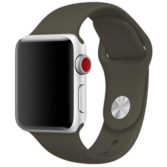 Marque 123watches Apple Watch sport sangle - olive foncée