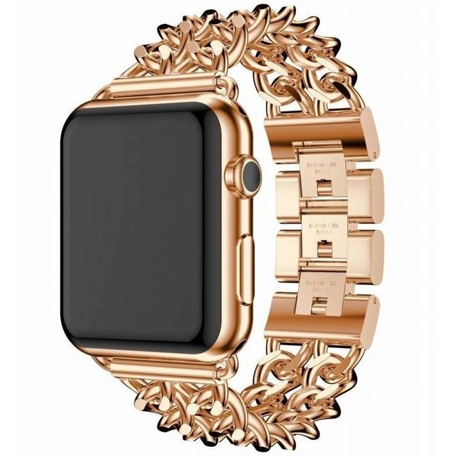 Apple Watch maillon de cow-boy en acier - or rose