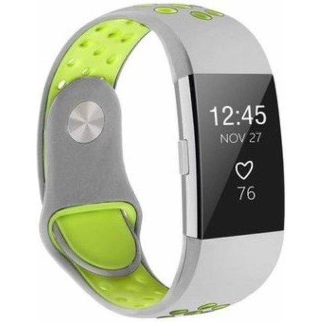 Marque 123watches Fitbit charge 2 bracelet sportif  - gris jaune